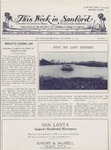 This Week in Sanford, Vol. 02, No. 11, September 27, 1926 by Arthur R. Curnick and J. Henry Wulbern