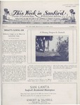 This Week in Sanford, Vol. 02, No. 12, October 4, 1926 by Arthur R. Curnick and J. Henry Wulbern