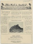 This Week in Sanford, Vol. 02, No. 13, October 11, 1926