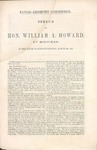 Speech of Hon. William A. Howard of Michigan. by William Alanson Howard