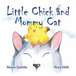 Little Chick and Mommy Cat by Marta Zafrilla