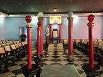 Ceremonial Chamber in the Havana Masonic Lodge B by Wendy S. Howard EdD