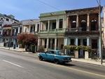 Russian Lada in Front of Buildings in Havana by Wendy S. Howard EdD