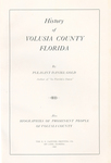 History of Volusia County Florida, 1927