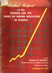 Initial report of the Council for the Study of Higher Education in Florida to the Board of Control, Florida Institutions of Higher Learning.