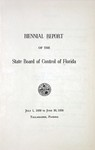 Report of the Board of Control: 1956-1958.
