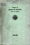 Report of the Board of Control: 1948-1950. by Florida Board of Control
