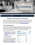 The Subject Librarian Newsletter, Accounting, Fall 2013