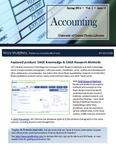 The Subject Librarian Newsletter, Accounting, Spring 2014
