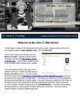 The Subject Librarian Newsletter, Criminal Justice, Fall 2014