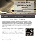The Subject Librarian Newsletter, Writing & Rhetoric, Spring 2014