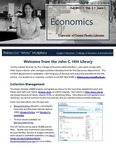 The Subject Librarian Newsletter, Economics, Fall 2013