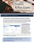The Subject Librarian Newsletter, Finance & Real Estate, Spring 2014