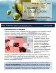 The Subject Librarian Newsletter, Finance & Real Estate, Spring 2015