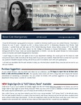 The Subject Librarian Newsletter, Health Professions, Fall 2013