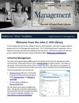 The Subject Librarian Newsletter, Management, Fall 2013