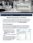 The Subject Librarian Newsletter, Marketing, Fall 2013
