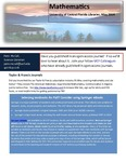 The Subject Librarian Newsletter, Mathematics, Spring 2014