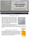 The Subject Librarian Newsletter, Modern Languages, Fall 2014