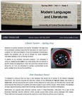 The Subject Librarian Newsletter, Modern Languages, Spring 2015