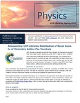 The Subject Librarian Newsletter, Physics, Spring 2014