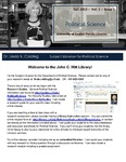 The Subject Librarian Newsletter, Political Science, Fall 2013