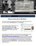 The Subject Librarian Newsletter, Political Science, Fall 2014
