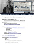 The Subject Librarian Newsletter, Psychology, Fall 2013