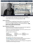 The Subject Librarian Newsletter, Psychology, Spring 2015