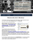 The Subject Librarian Newsletter, Public Administration, Fall 2013