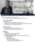 The Subject Librarian Newsletter, Social Work, Fall 2013
