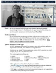 The Subject Librarian Newsletter, Social Work, Spring 2015
