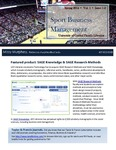 The Subject Librarian Newsletter, Sports Business Management, Spring 2014