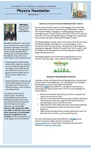 The Subject Librarian Newsletter, Physics, Spring 2016 by Patti McCall