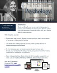The Subject Librarian Newsletter, Psychology, Spring 2016 by Carrie Moran