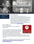 The Subject Librarian Newsletter, Women's & Gender Studies, Spring 2016 by Carrie Moran