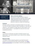 The Subject Librarian Newsletter, Women's & Gender Studies, Fall 2016 by Carrie Moran