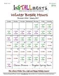 InSTALLments, Special Issue, Winter Break 2016 by Renee Montgomery