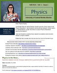 The Subject Librarian Newsletter, Physics, Fall 2016 by Sandy Avila