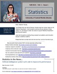 The Subject Librarian Newsletter, Statistics, Fall 2016 by Sandy Avila