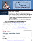 The Subject Librarian Newsletter, Biology, Spring 2017