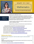 The Subject Librarian Newsletter, Mathematics, Spring 2017 by Sandy Avila