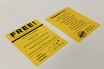 """STARS """"FREE"""" promotional card"""
