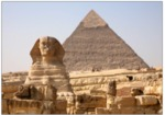 Giza Sphinx and pyramid by Lana Williams