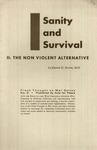 Sanity and survival: The non violent alternative