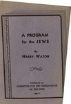 A program for the Jews and an answer to all anti-Semites: A program for humanity