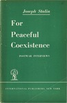 For peaceful coexistence: Postwar interviews
