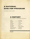 A National shelter program: Its feasibility and its cost : a report