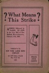 ?What means this strike?