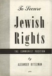 To secure Jewish rights: The communist position